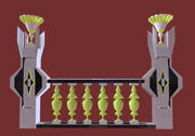 Architectural Balustrade  - Palace Decor Baroque - 4 3d model