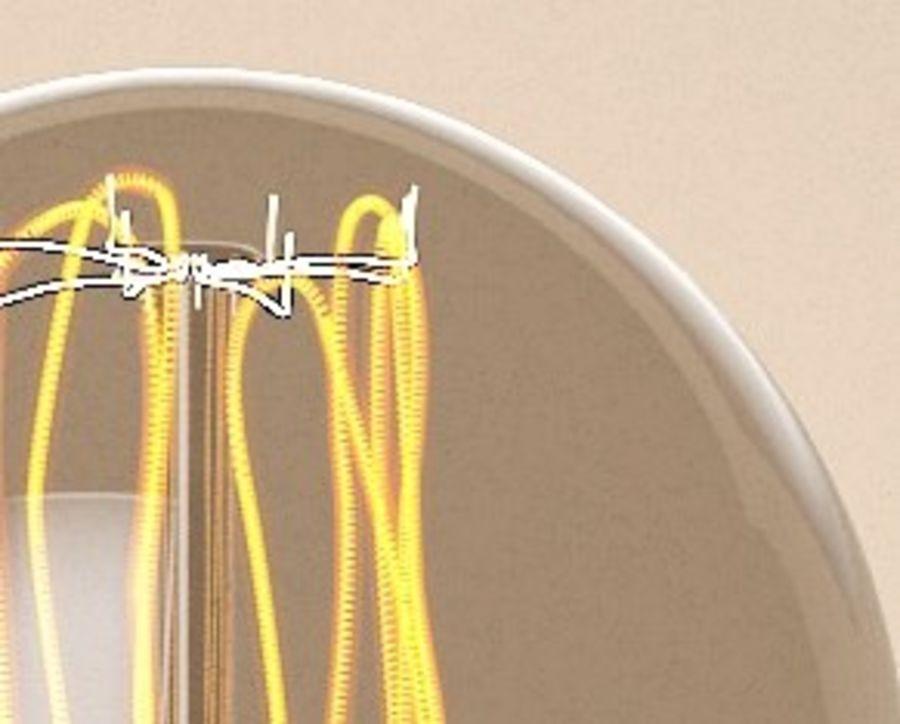Прозрачная стеклянная колба royalty-free 3d model - Preview no. 5