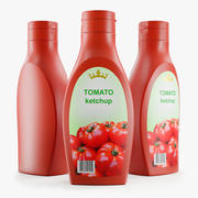 Plast tomatketchupflaska 3d model