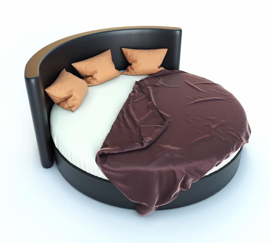 Säng för ett sovrum royalty-free 3d model - Preview no. 3