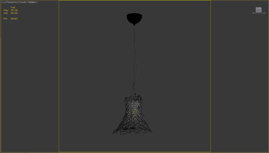 Lampa Kartell Bloom royalty-free 3d model - Preview no. 5