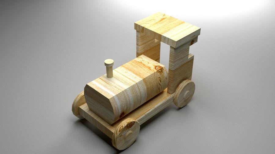 木製機関車おもちゃ royalty-free 3d model - Preview no. 5