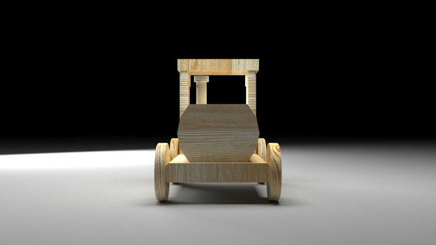 木製機関車おもちゃ royalty-free 3d model - Preview no. 3