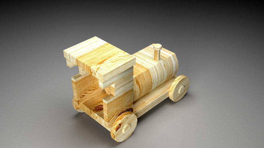 木製機関車おもちゃ royalty-free 3d model - Preview no. 2