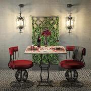 Romantic Dinner Table 3d model