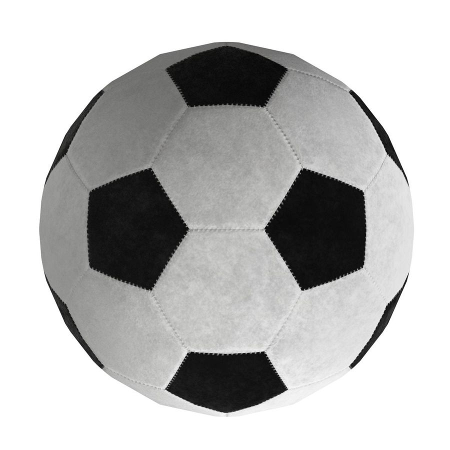 Football Soccer Ball 2 royalty-free 3d model - Preview no. 7