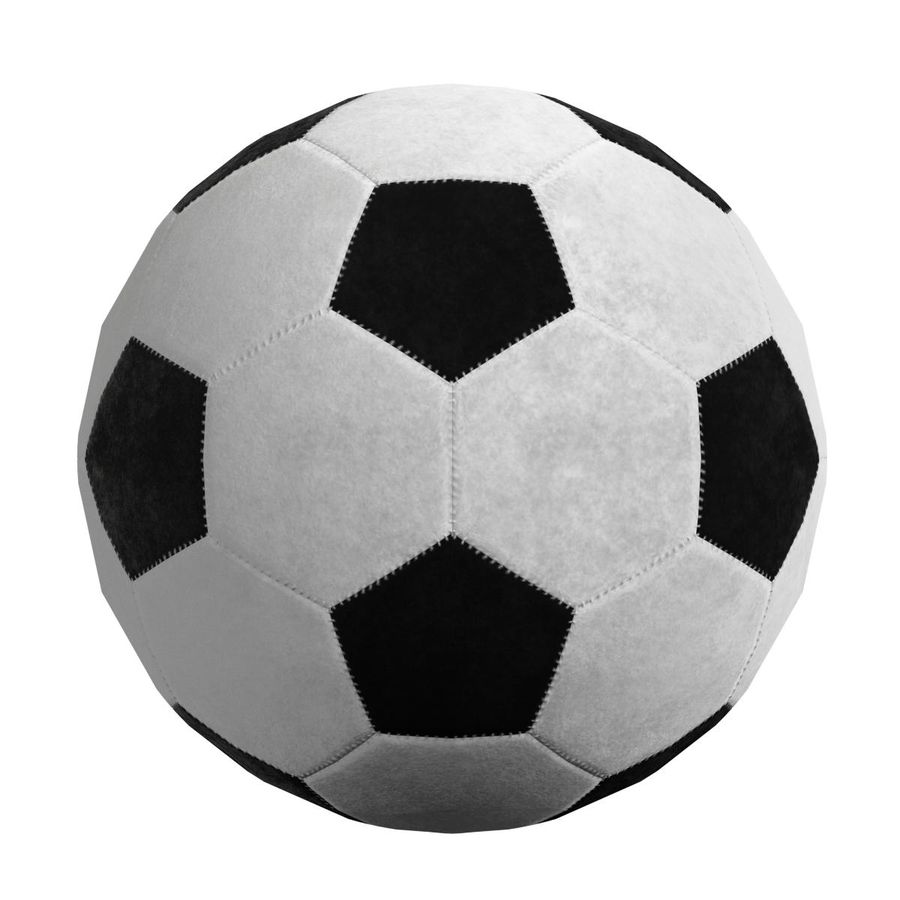Football Soccer Ball 2 royalty-free 3d model - Preview no. 4