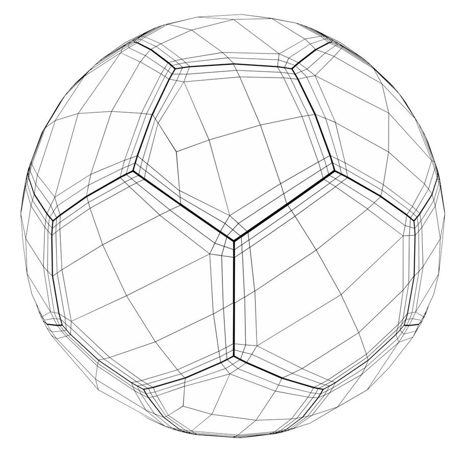 Football Soccer Ball 2 royalty-free 3d model - Preview no. 8