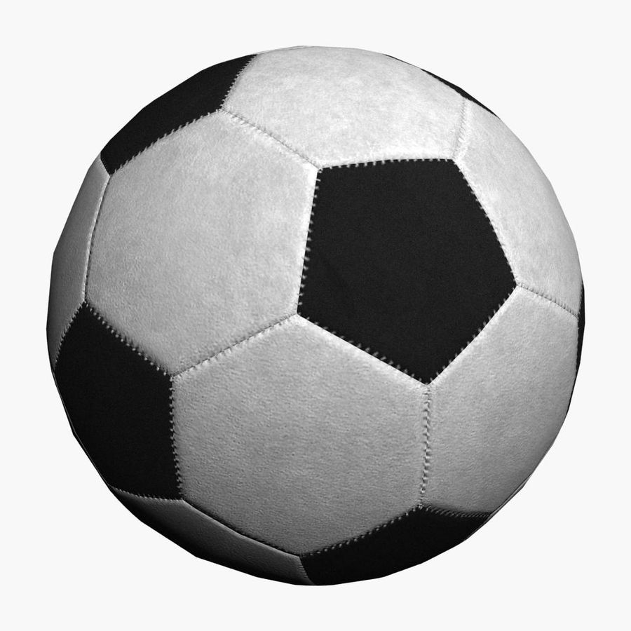 Football Soccer Ball 2 royalty-free 3d model - Preview no. 2