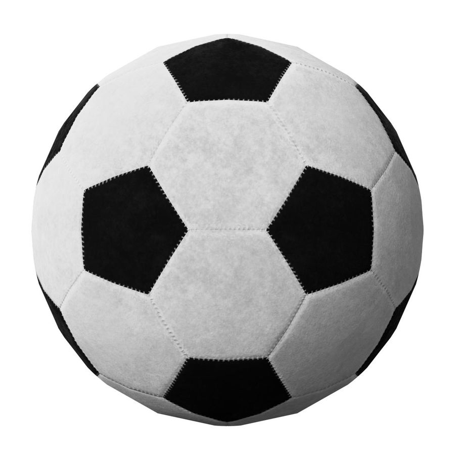 Football Soccer Ball 2 royalty-free 3d model - Preview no. 6