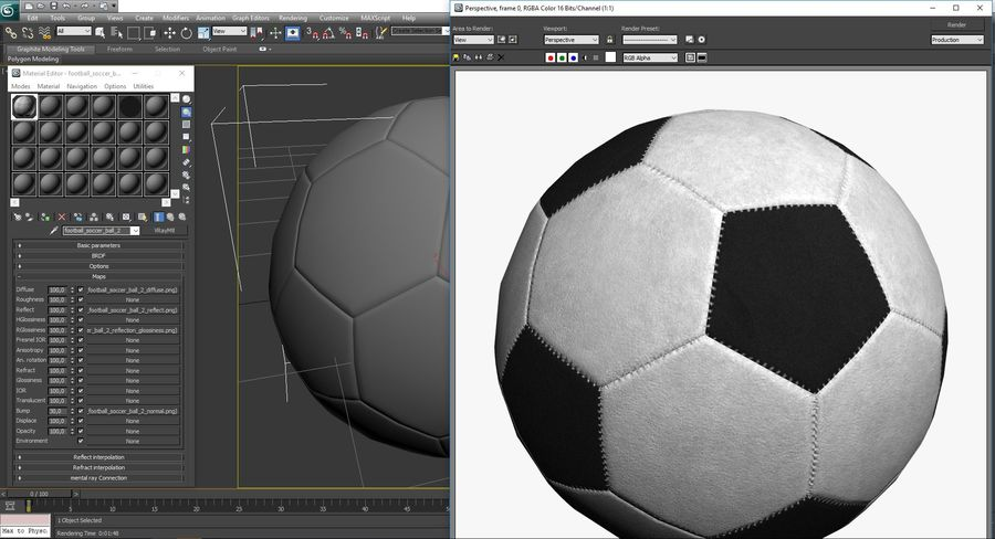 Football Soccer Ball 2 royalty-free 3d model - Preview no. 12