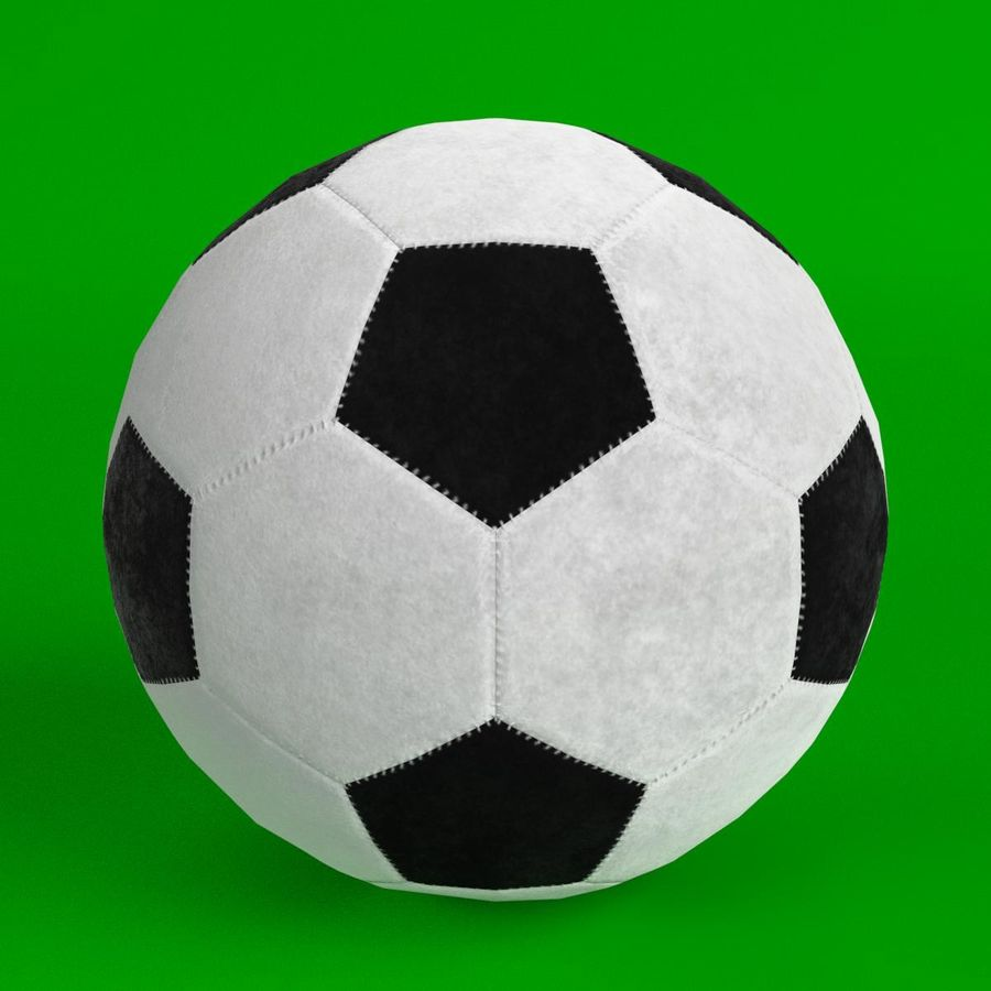 Football Soccer Ball 2 royalty-free 3d model - Preview no. 1