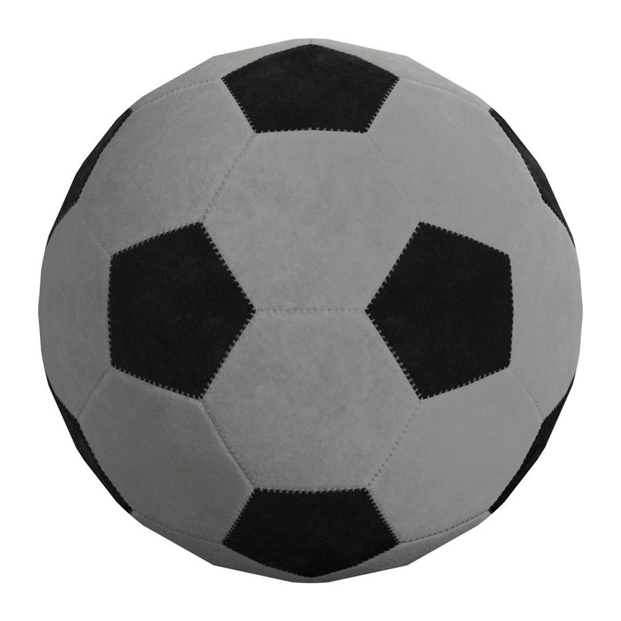 Football Soccer Ball 2 royalty-free 3d model - Preview no. 5