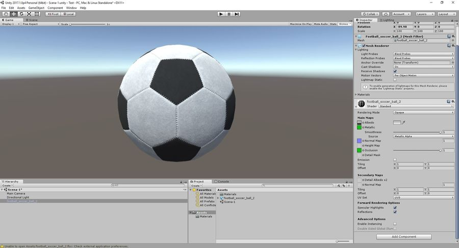 Football Soccer Ball 2 royalty-free 3d model - Preview no. 13
