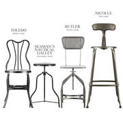 산업용 의자 및 의자 3d model