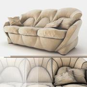 Уютный классический диван 3d model