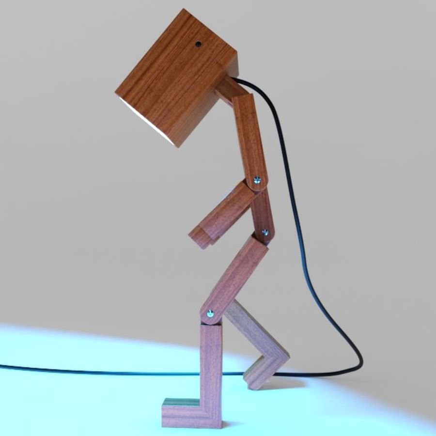Droid Design Table Lamp royalty-free 3d model - Preview no. 5