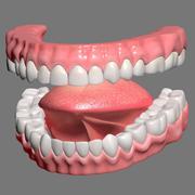 质感的嘴 3d model