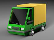Cartoon elektryczny samochód 3d model