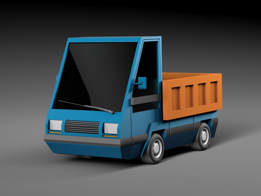 Cartoon elektryczny samochód v2 royalty-free 3d model - Preview no. 1