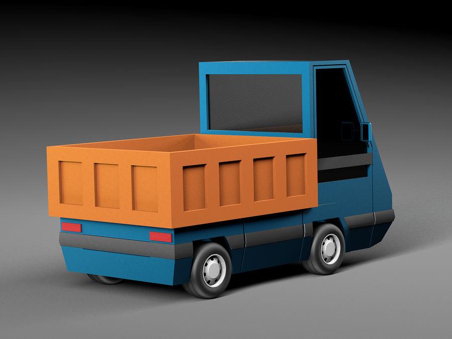 Cartoon elektryczny samochód v2 royalty-free 3d model - Preview no. 4