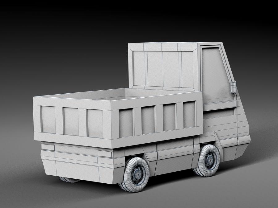 Cartoon elektryczny samochód v2 royalty-free 3d model - Preview no. 8