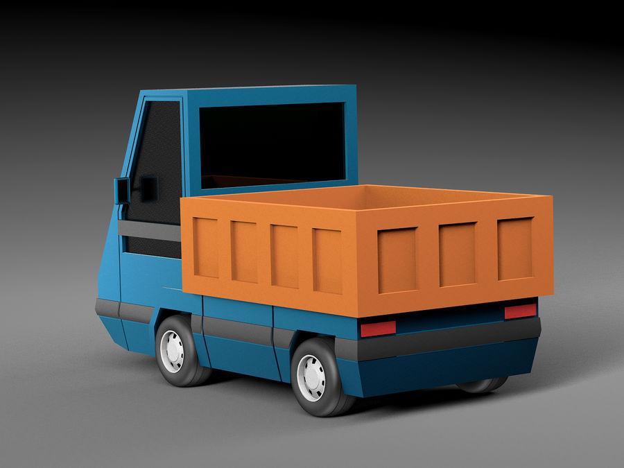 Cartoon elektryczny samochód v2 royalty-free 3d model - Preview no. 3