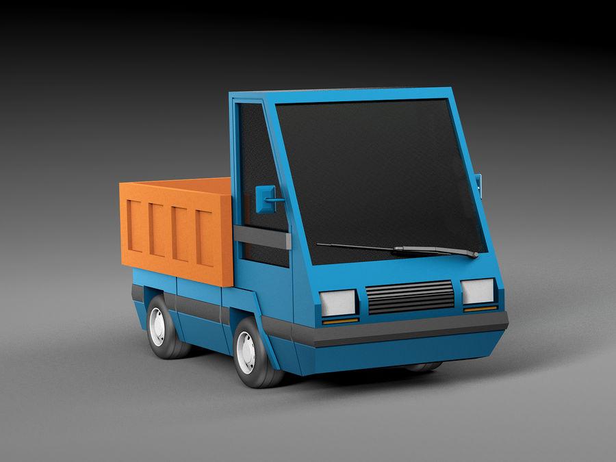 Cartoon elektryczny samochód v2 royalty-free 3d model - Preview no. 5