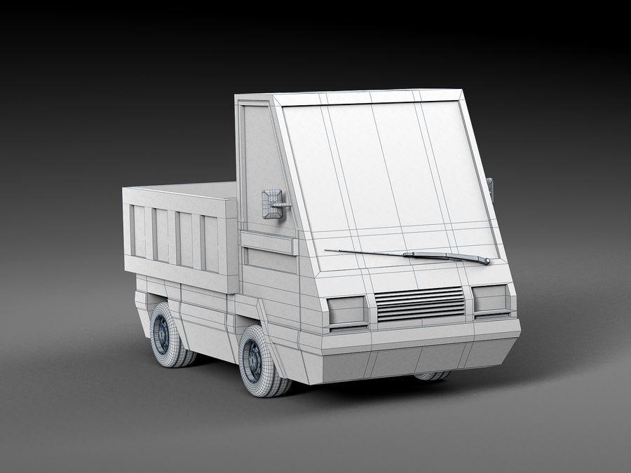 Cartoon elektryczny samochód v2 royalty-free 3d model - Preview no. 6