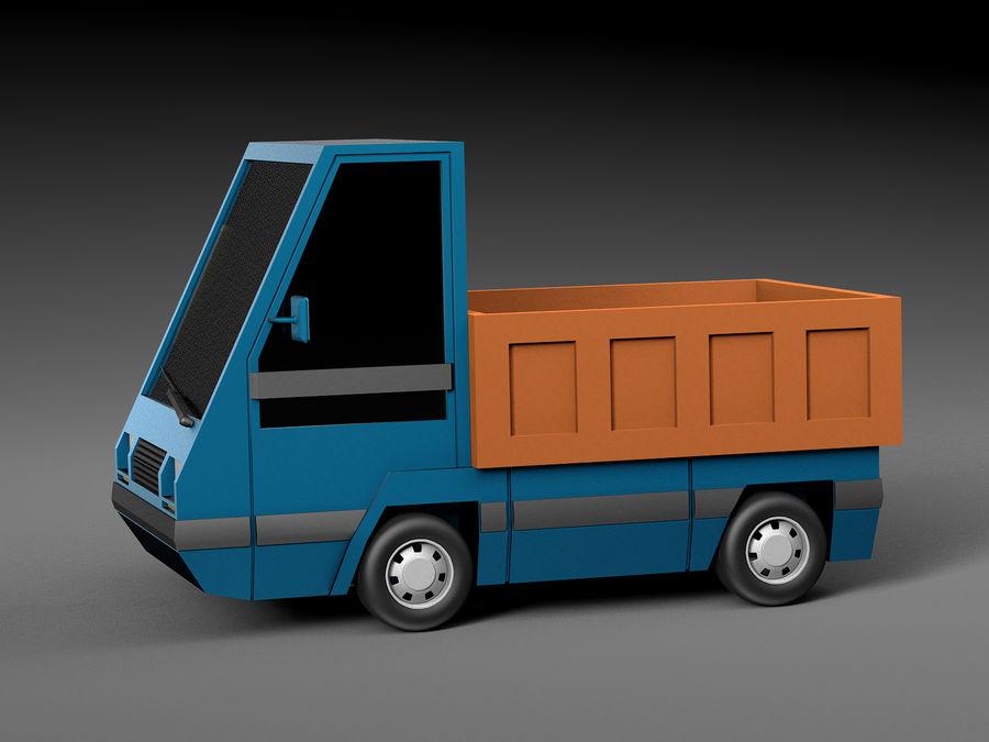 Cartoon elektryczny samochód v2 royalty-free 3d model - Preview no. 2