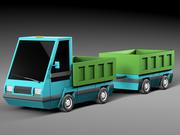 Cartoon elektryczny samochód v3 3d model