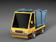 Cartoon elektryczny samochód v4 3d model