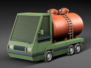 Cartoon tank tank 3d model