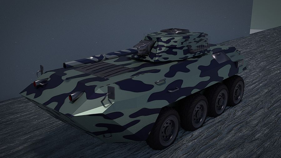 Urban AMV Armored Mortar Vehicle Urban-versie royalty-free 3d model - Preview no. 1