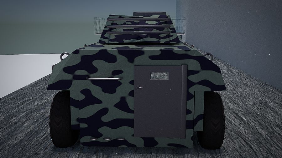 Urban AMV Armored Mortar Vehicle Urban-versie royalty-free 3d model - Preview no. 4