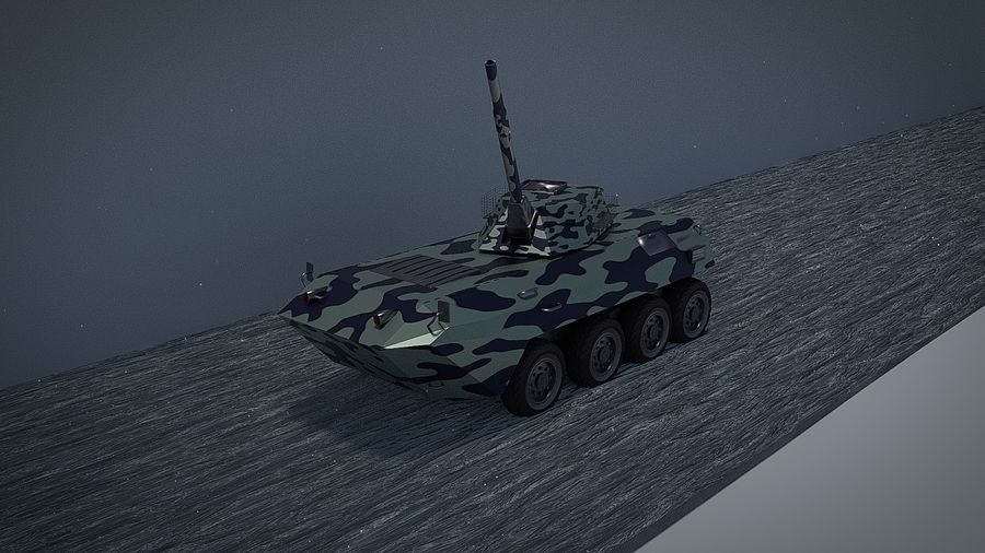 Urban AMV Armored Mortar Vehicle Urban-versie royalty-free 3d model - Preview no. 2