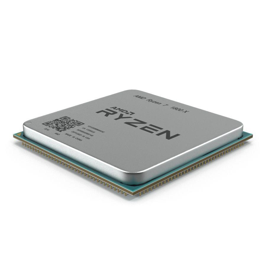 CPU Ryzen royalty-free 3d model - Preview no. 5