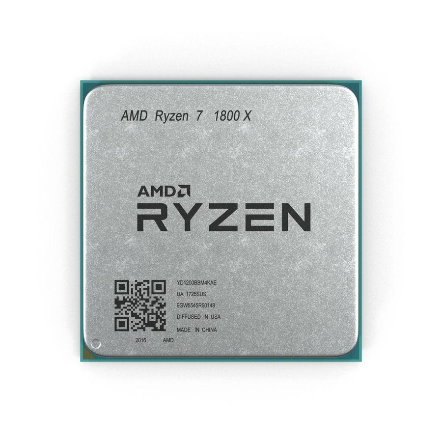 CPU Ryzen royalty-free 3d model - Preview no. 3