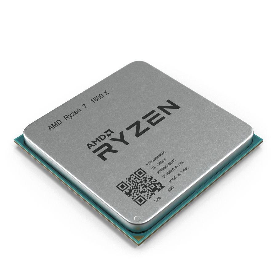CPU Ryzen royalty-free 3d model - Preview no. 1