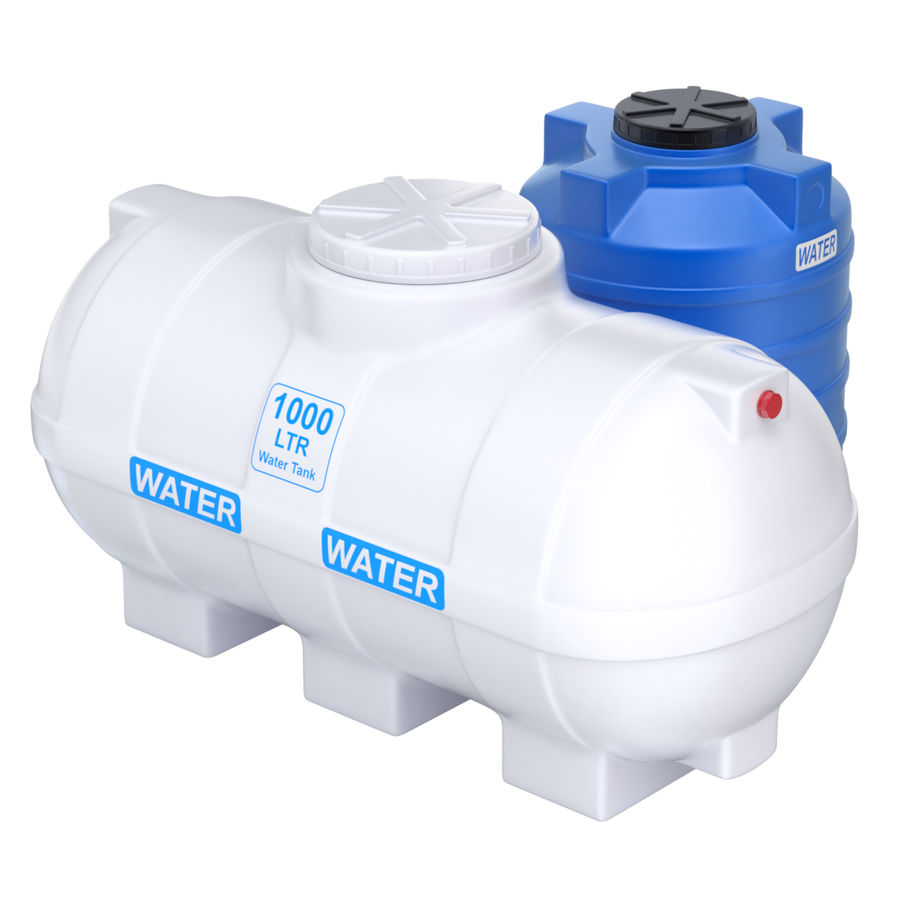 Plastic wateropslagtanks royalty-free 3d model - Preview no. 4