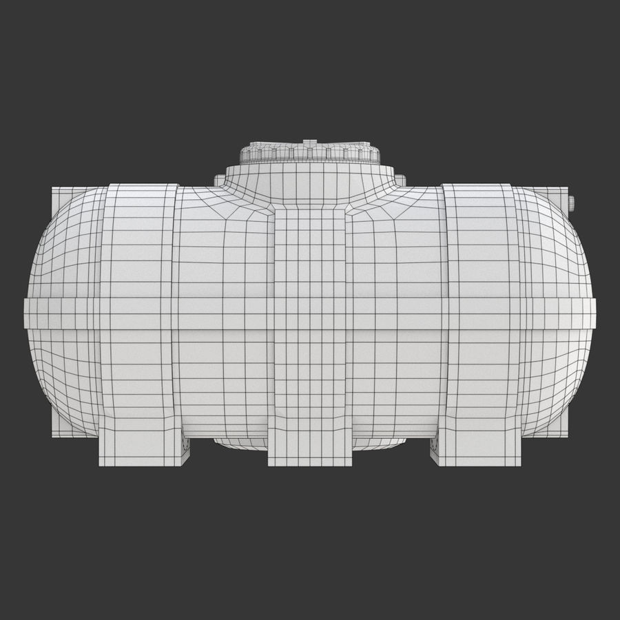 Plastic wateropslagtanks royalty-free 3d model - Preview no. 19