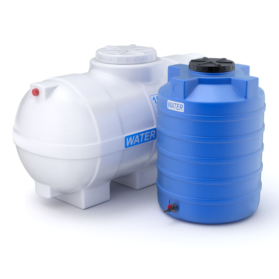 Plastic wateropslagtanks royalty-free 3d model - Preview no. 1