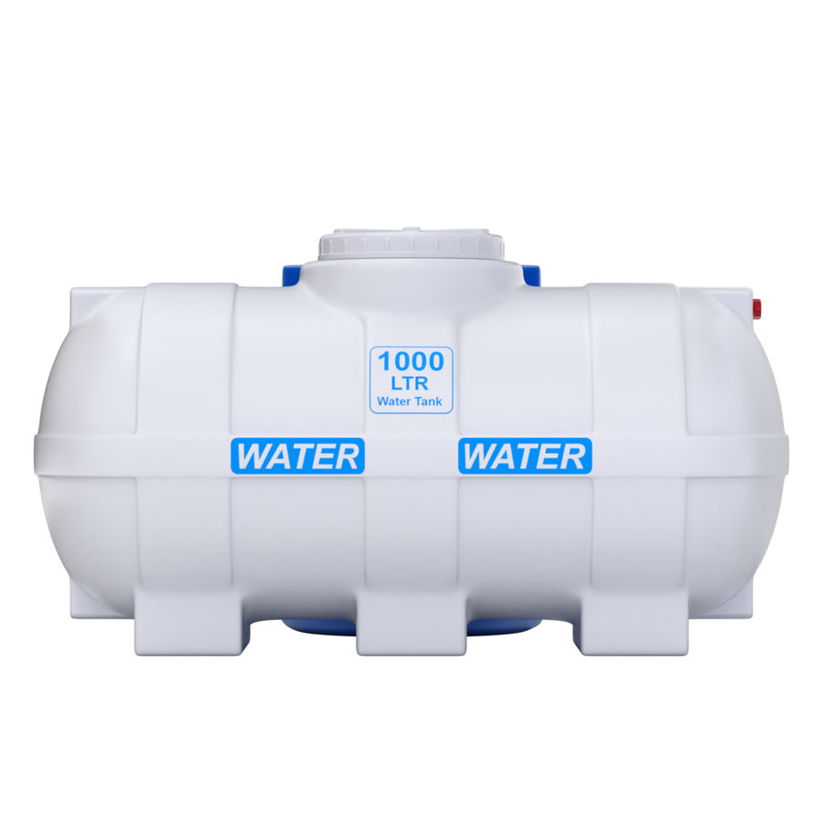 Plastic wateropslagtanks royalty-free 3d model - Preview no. 5