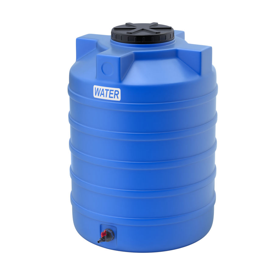 Plastic wateropslagtanks royalty-free 3d model - Preview no. 8