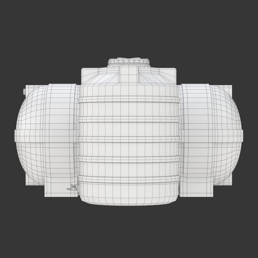 Plastic wateropslagtanks royalty-free 3d model - Preview no. 20