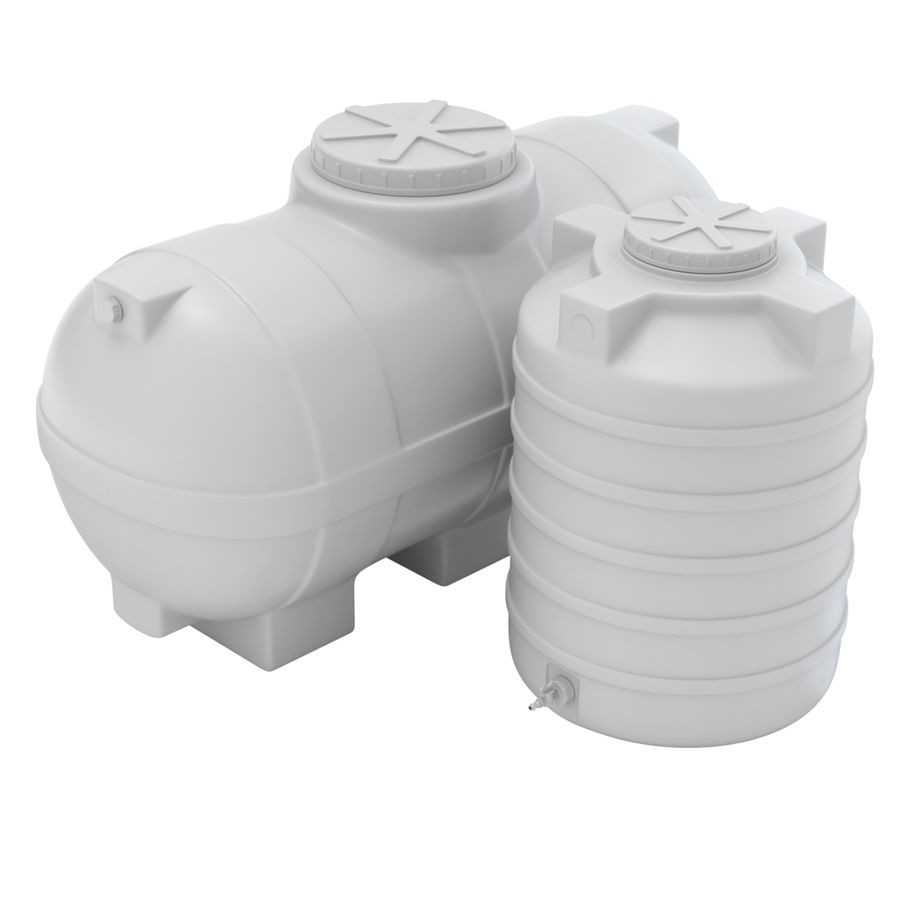 Plastic wateropslagtanks royalty-free 3d model - Preview no. 12