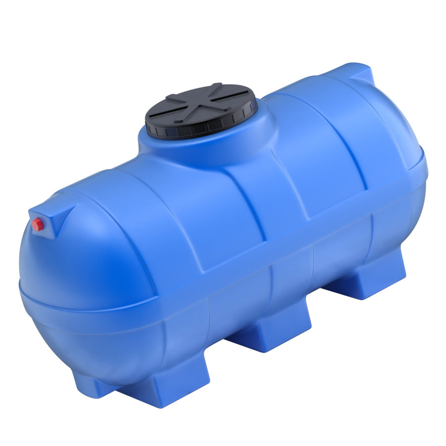 Plastic wateropslagtanks royalty-free 3d model - Preview no. 11