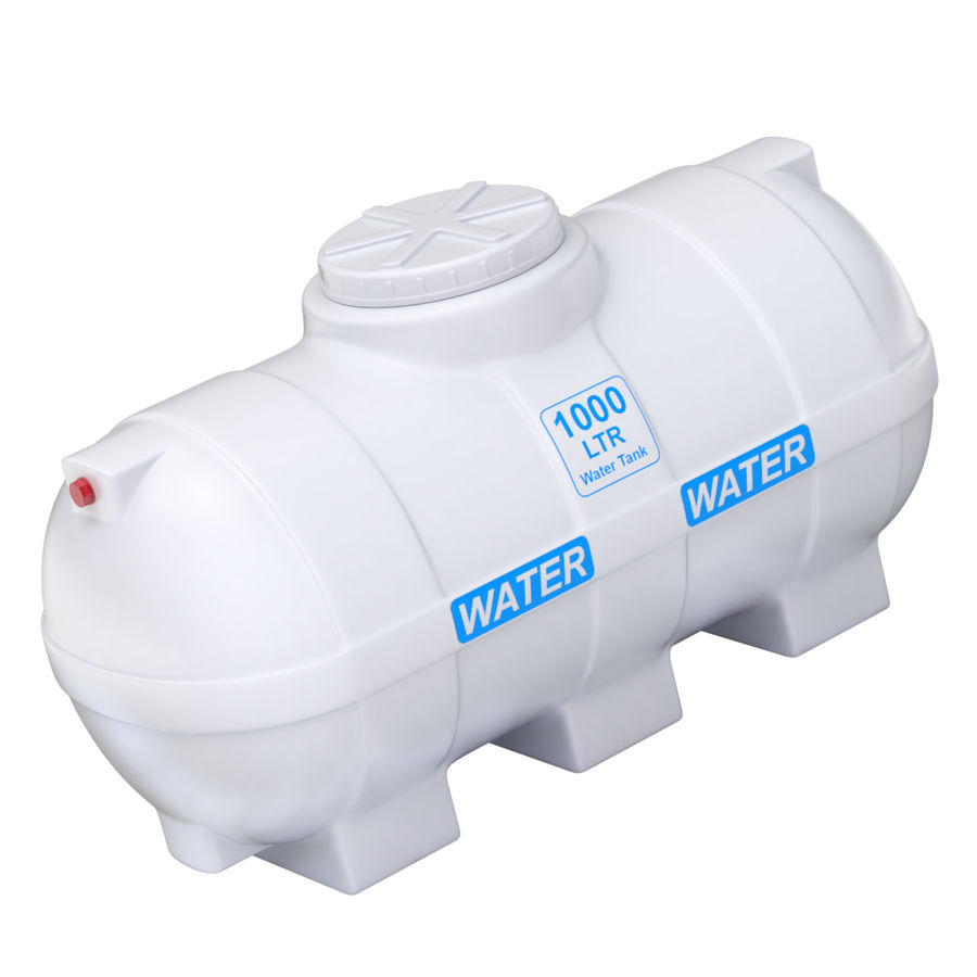 Plastic wateropslagtanks royalty-free 3d model - Preview no. 10