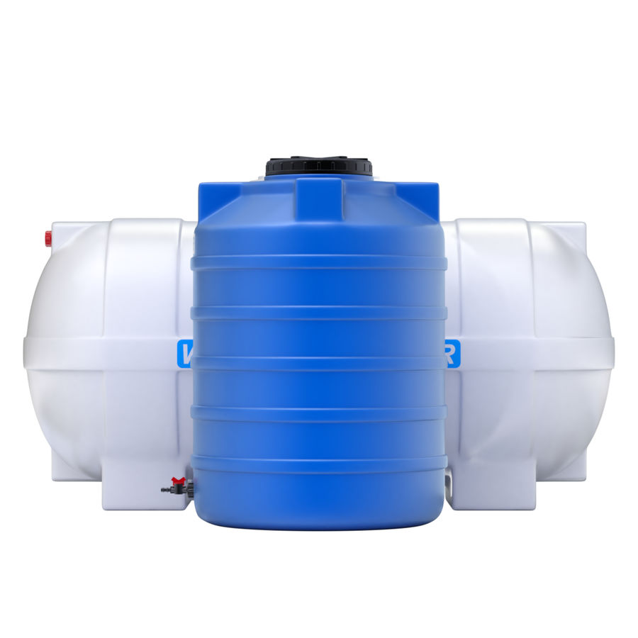 Plastic wateropslagtanks royalty-free 3d model - Preview no. 6