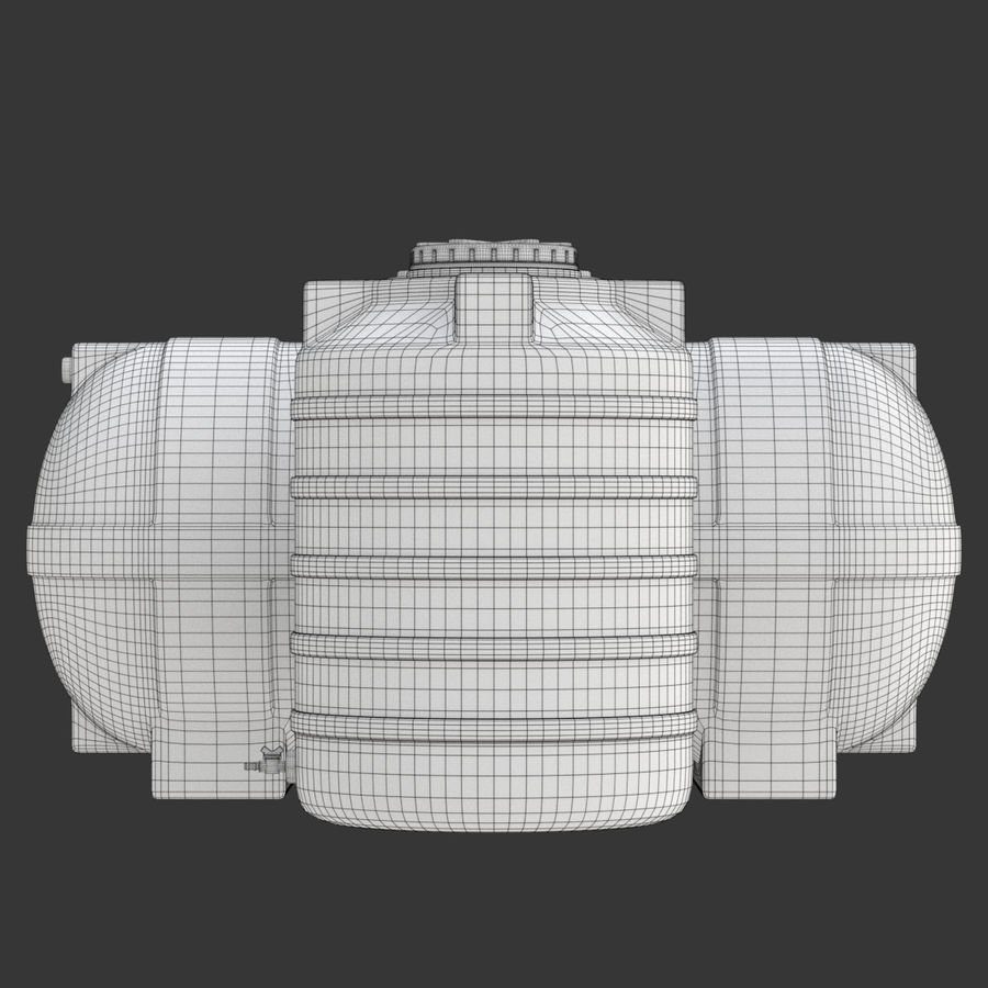Plastic wateropslagtanks royalty-free 3d model - Preview no. 25